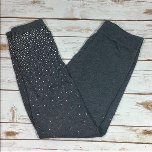 3/$15 Justice Gray Sweat Pants with rhinestones